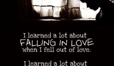 I learned a Lot About Falling in Love