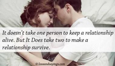 Make A Relationship Survive