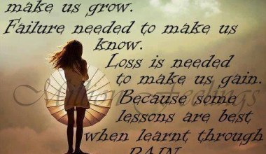Sometimes Hurt Is Needed To make Us Grow