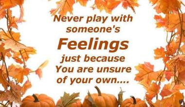 Never Play With Someone's Feelings