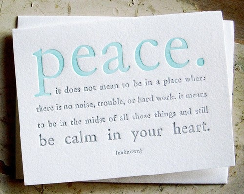 Be Calm In Your Heart