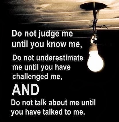 Do Not Judge Me