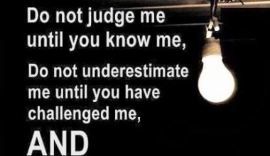Do Not Judge Me