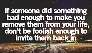 If Someone Did Something bad