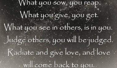 What you See in Others