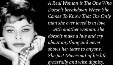 A Real Woman Is The One Who Doesn't breakdown