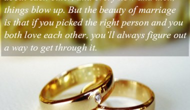 Marriage is about