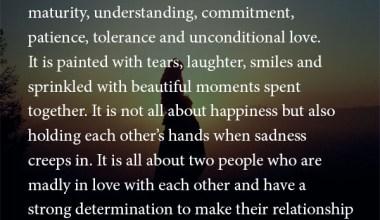 Compromises, Sacrifices, maturity
