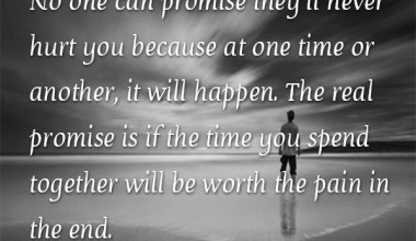 No One Can Promise They'll Never Hurt You