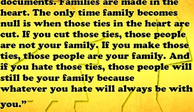 Families Are Mad In The Heart