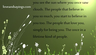 The once in a lifetime kind of people