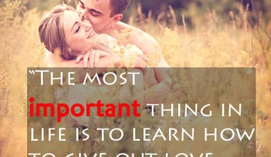 Learn How To Give Out Love