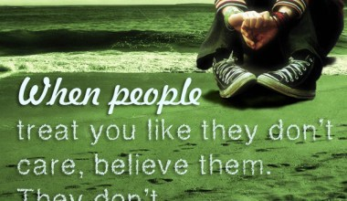 People treat you like