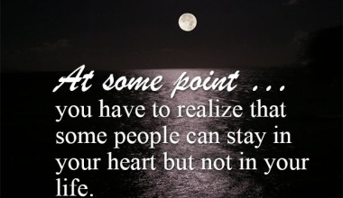 In your heart but not in your life