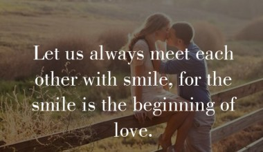 Let Us Always meet each other with smile