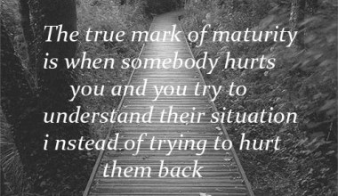 True Mark of Maturity