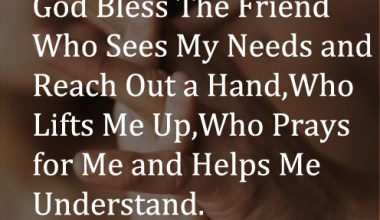 Who Prays For Me And Helps Me understand