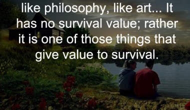 Friendship is Unnecessary Like Philosophy