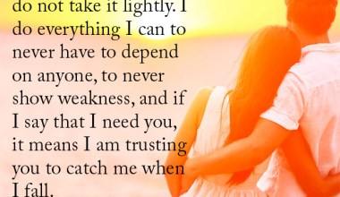 I Am Trusting you To Catch Me When I Fall
