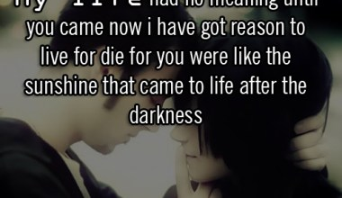 My Life Had No Meaning Until You Came