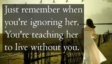 Teaching Her To Live Without You