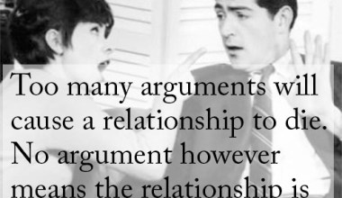 Too Many Arguments Will Cause A Relationship