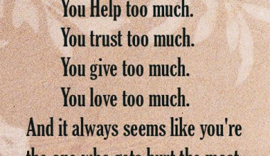 You Trust Too Much