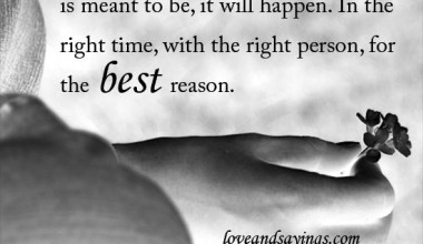 In The Right Time With The Right Person