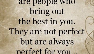 Who Bring Out The Best in you