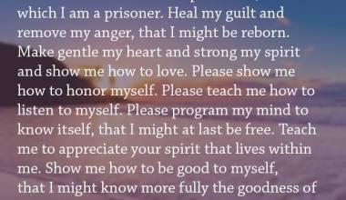 Dear God Please teach me to forgive myself