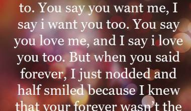 You Say You Like Me, I Smiled