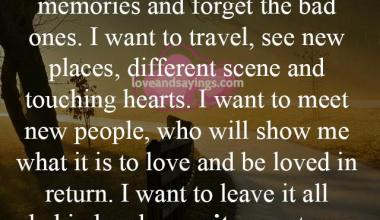 I Want to leave it all behind and re-write my new story