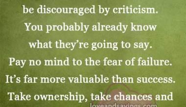 Don't Get Discouraged!