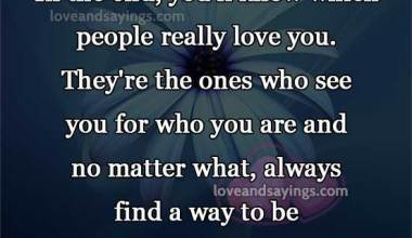 Who really love you