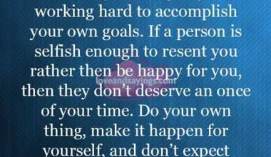 If a person is selfish Enough
