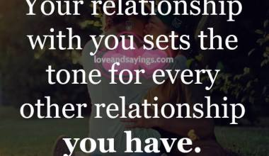 Your Relationship With You