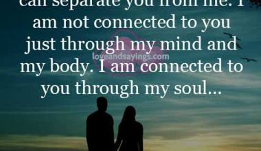 Nothing in this whole wrld can separate you from me