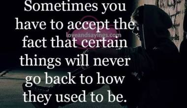 Sometimes you have to accept the fact