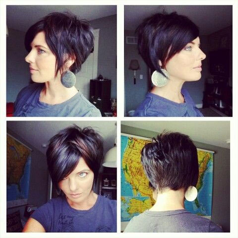 Short Haircut Back Side Front View
