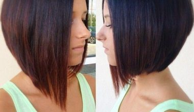 Asymmetrical Bob hairstyle for women