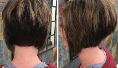 Blonde Highlights with Volume – Straight Bob Cut