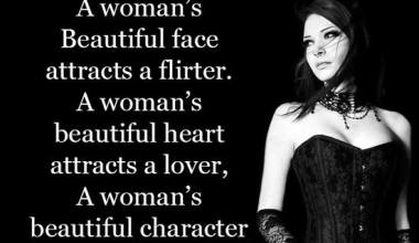 A woman's beautiful character attracts a man