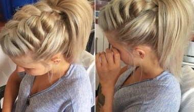 Chunky Braided High Ponytail