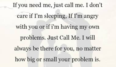 If you need me, just call me