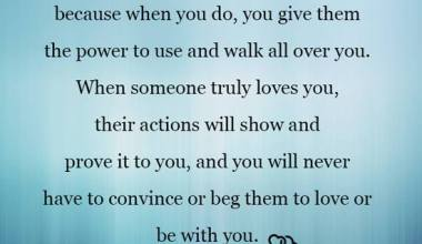 When Someone Truly Loves you