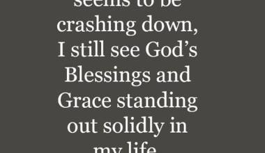 Blessings and Grace
