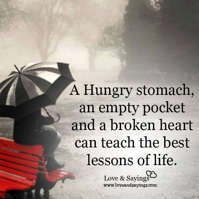 Empty Pocket and a broken heart