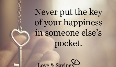 Key of your happiness in someone else's pocket