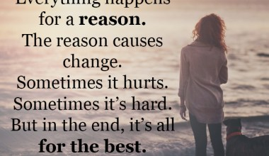 Sometime its hard but in the end its all for the best