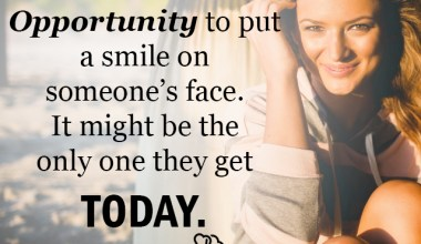 Opportunity to put a smile on someone's face